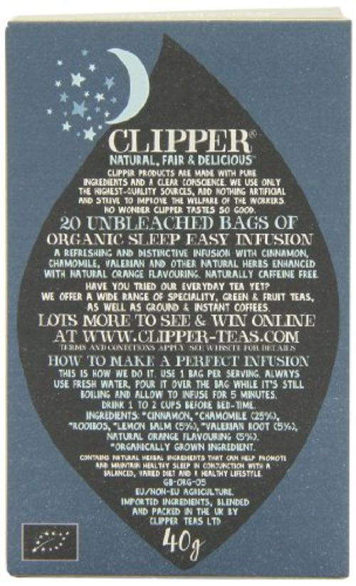 photo Wallpaper of Clipper-Clipper Organic Sleep Easy Infusion 20 Teabags (Pack Of 6, Total-