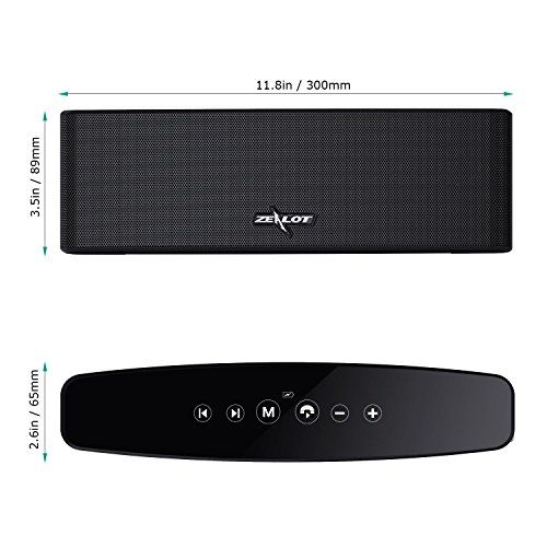 photo Wallpaper of ZEALOT-Bluetooth Lautsprecher, ZEALOT S12 Musikbox Wireless Speaker Bluetooth 4.2 Mobile-Schwarz
