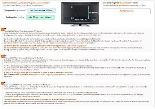 photo Wallpaper of RICOO-RICOO Wandhalterung TV Schwenkbar Neigbar Gasfeder Monitorhalterung Wand S2711 Höhenverstellbar-S2711 | VESA 100x100 | 2 Gelenke | Silber