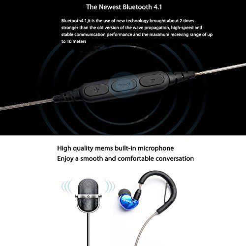photo Wallpaper of OKCSC-OKCSC DD4 Hybrid Bluetooth Earphones Dual Balanced Dynamic Wireless Headphones, Bluetooth V4.1 HiFi-blau