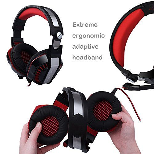 photo Wallpaper of Butfulake-AooLife Gaming Headset Für PS4, Xbox One, Für Computer, Laptop,-GM-2-red