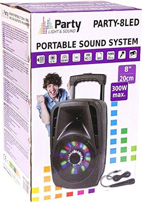 photos of Party Light & Sound PARTY 8LED Tragbares Soundsystem, 20 Cm (8 Zoll), 300W Mit USB, Bluetooth, FM Und Mikrofon, 1 Stück Best Buy Kaufen   model Musical Instruments