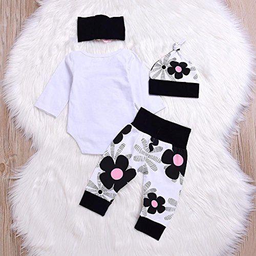 photo Wallpaper of Blaward-Blaward Neugeborenes Baby Mädchen 4 Stücke Daddy Kleine Prinzessin Strampler Kleidung Blume-Weiß