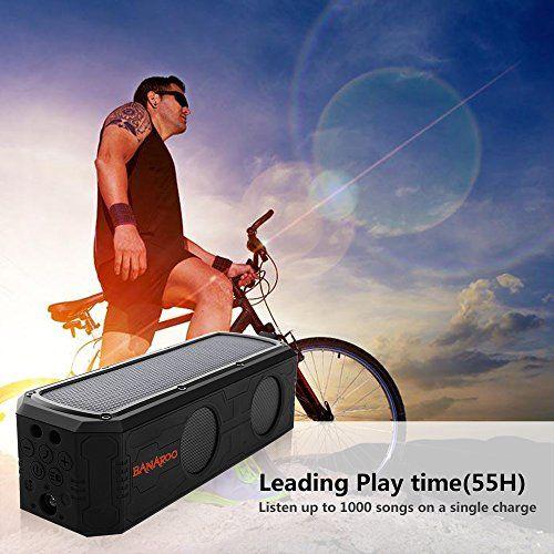 photo Wallpaper of Banaroo-Solar Bluetooth Lautsprecher, BANAROO 55 Stunden Spielzeit Tragbar Lautsprecher Dual Treiber-Black