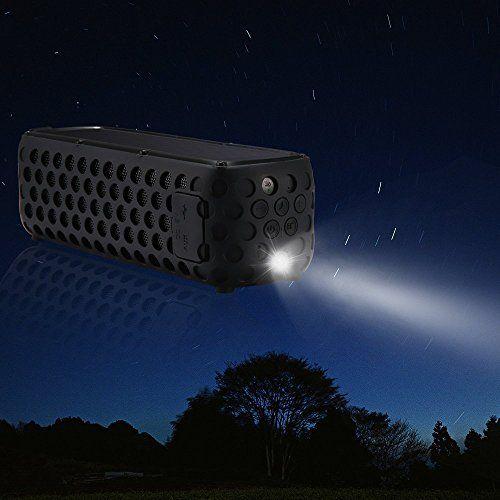 photo Wallpaper of GRDE-GRDE Bluetooth 4.0 Lautsprecher Solar Außen Lautsprecher Bluetooth Stero Speaker Cool SoundBox Wirelss Tragbar-Schwarz