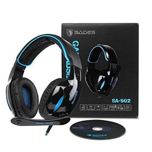 photo Wallpaper of Sades-PC MAC Gaming Kopfhörer, SADES SA902 USB Gaming Headsets 7.1 Surround Sound Mit-SA902-BLUE-BLACK
