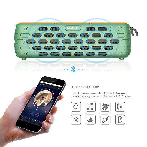 photo Wallpaper of ALAFAT-Bluetooth 4.0 Lautsprecher Solar Außen Lautsprecher Dual Treiber HD Stereo SoundBox Wirelss Tragbar-Green