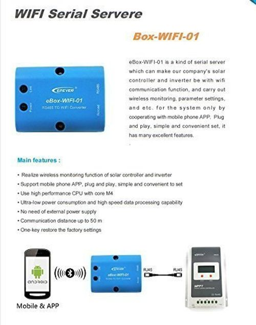 photo Wallpaper of Epever-Remote Wireless Monitor Meter Box Controller Von APP Für Epever MPPT-EBOX-WIFI I