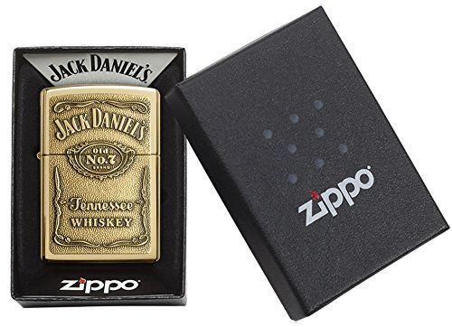 photo Wallpaper of Zippo-Zippo 1350003 Jack Daniel's Label Brass   Mechero Con Relieve-Bronce