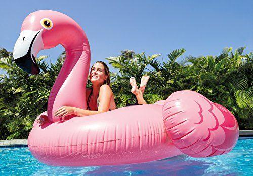 photo Wallpaper of Intex-Badeinsel ''Mega Flamingo Island'' Mit 2 Haltegriffe, 218x211x136cm-pink