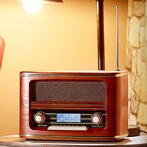 photo Wallpaper of auvisio-Auvisio Digitalradio Nostalgie: Digitales Nostalgie Stereo Radio Mit DAB+, Bluetooth 3.0, FM & Wecker-braun