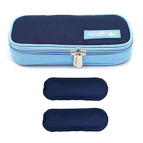 photo Wallpaper of ONEGenug-Bolsa Diabética ONEGenug Enfriador De Insulina Bolsa Bolsa De Jeringas Para La Diabetes,-azul + 2 Bolsas de hielo