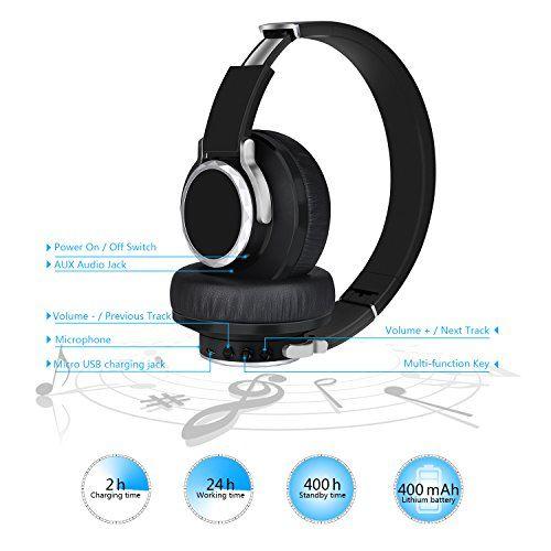 photo Wallpaper of Elekele-Bluetooth Kopfhörer, Elekele® On Ear Kopfhörer Headset, Kabellose Kopfhörer Mit AptX, 90° Drehgelenk,-EBH1001