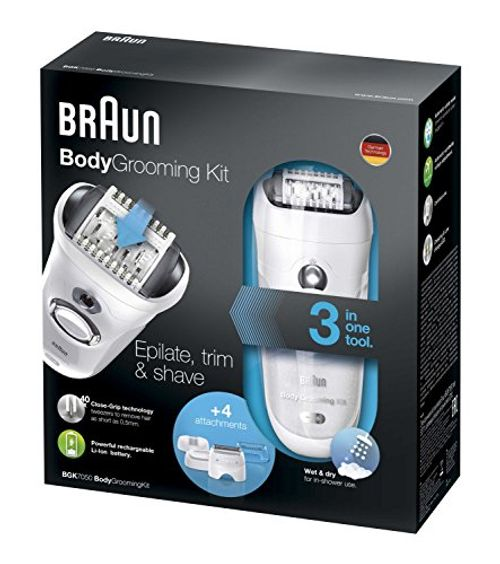 photo Wallpaper of Braun-Braun BGK 7050 Braun BGK 7050   Kit De Depilación-Blanco / Negro