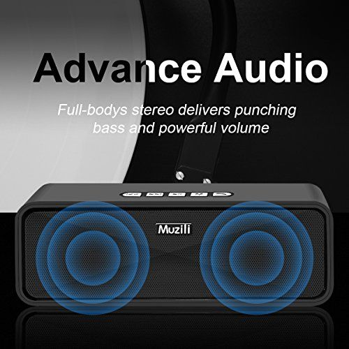 photo Wallpaper of Muzili-Bluetooth Lautsprecher Muzili Portable Outdoor Car Stereo Subwoofer Lautsprecher Mit Freisprecheinrichtung / 3,5 Mm-Schwarz