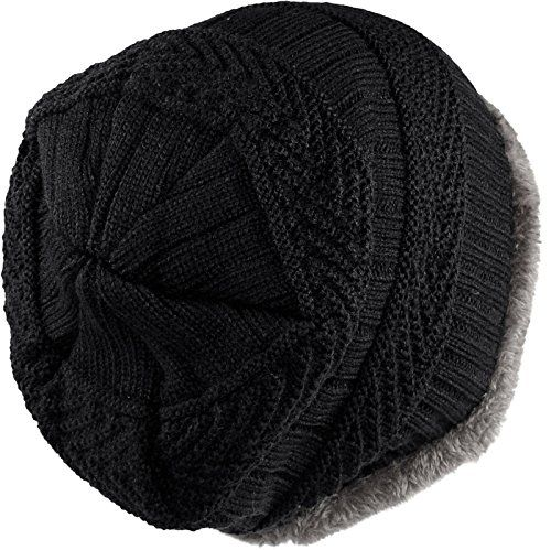 photo Wallpaper of Harrys-Collection-Harrys Collection Damen & Herren 2 Teiliges Set Beanie Mütze-Schwarz