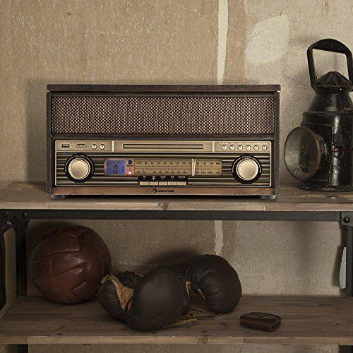photo Wallpaper of auna-Auna Belle Epoque 1909 • Retroanlage • Stereoanlage • Plattenspieler-braun - Bluetooth und CD