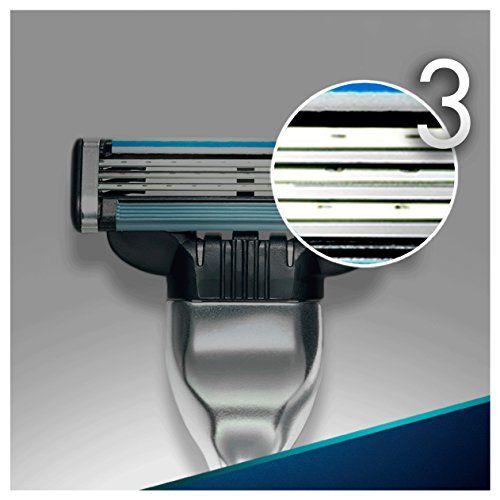 photo Wallpaper of Gillette-Gillette Mach3   Maquinilla Para Hombre + 12 Recambios De Hojas-