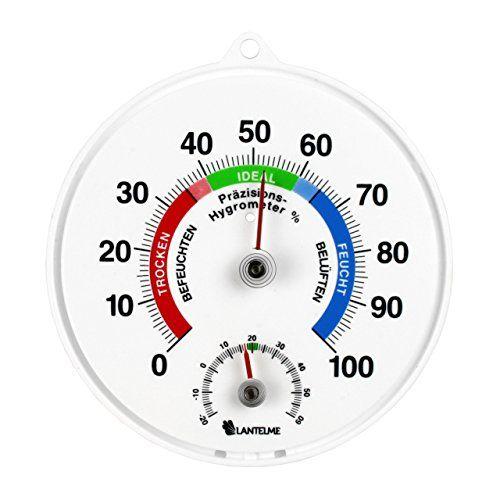photo Wallpaper of Lantelme-Lantelme Präzisions   Thermometer/Hygrometer Kombigerät Für Innen Oder Außen Raumklima/Thermohygrometer-Weiß