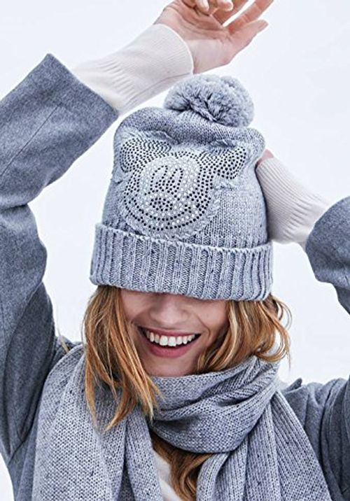 photo Wallpaper of CODELLO-CODELLO Winter Mütze MICKEY STRASS MELANGE Hat Hellgrau LIGHT GREY 8402-H.Grau