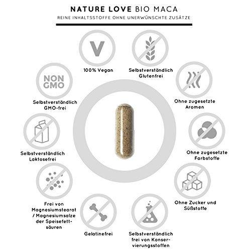 photo Wallpaper of Nature Love-Bio Maca Kapseln   3000mg Schwarzes Bio Maca Je Tagesdosis. 180 Kapseln. Mit-