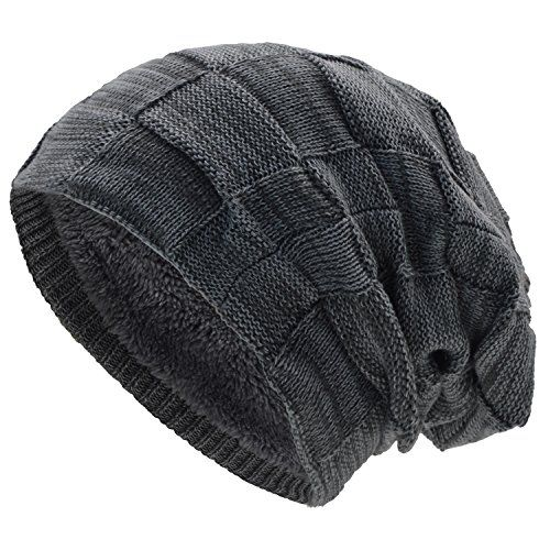 photo Wallpaper of UPhitnis-UPhitnis Warme Wintermütze   Long Slouch Beanie Mütze  -Hellgrau