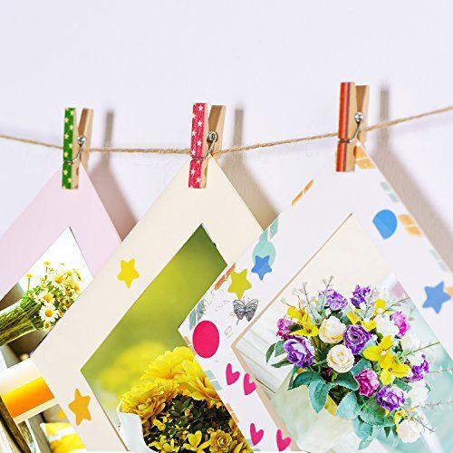 photo Wallpaper of Outus-Mini Craft Pegs Holz Wäscheklammern, Gemischte Farben, 100 Stück-