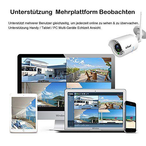 photo Wallpaper of ieGeek-[Verbesserte] IeGeek IP überwachungskamera / IP Kamera 720P HD Wasserdicht-Weiß