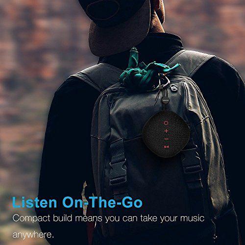 photo Wallpaper of QWOO-Bluetooth Lautsprecher, QWOO Mobiler Bluetooth 4.2 Sport Tragbar Lautsprecher 18 St Spielzeit Mit-
