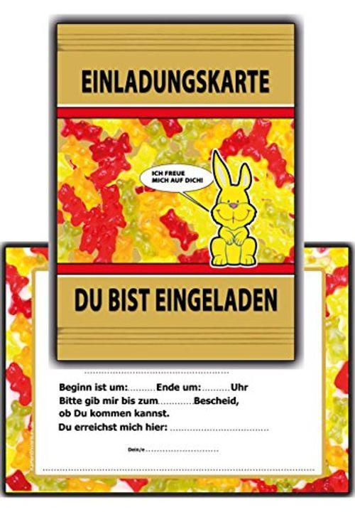 photo Wallpaper of Kartenversand24-12 Set Einladungskarten Jungen Mädchen Lustig Witzig Ausgefallen Für Fussball-