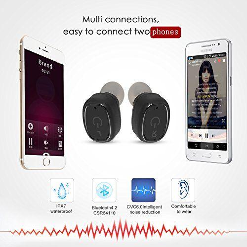 photo Wallpaper of OBEST NEW-OBEST NEW Bluetooth Kopfhörer,Mini Absolut Drahtloser Earbuds,Sport Headset In Ear-Red