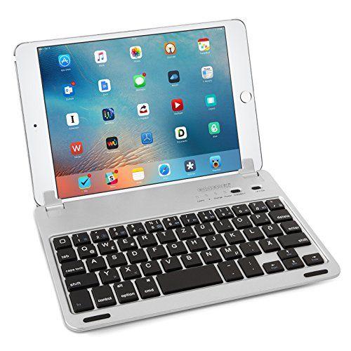 photo Wallpaper of Caseflex-Caseflex Ultra Dünn Bluetooth Tastatur Mit Magnetischer Halterung & Verstellbarem-Silber