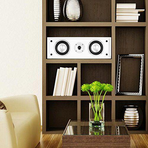 photo Wallpaper of auna-Auna Linie 300 CN WH Center Lautsprecher Passiv 35W Gesamt Weiß-Schwarz, Weiß