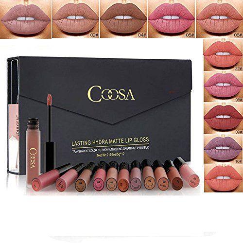 photo Wallpaper of Rechoo-Rechoo 12 Stück Wasserdicht Langlebig Matte Liquid Lipstick Schönheit Lippe Gloss, Sexy Wasserdichte-12 pcs