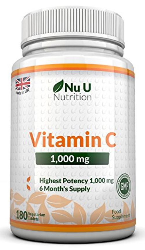 photo Wallpaper of Nu U Nutrition-Vitamina C   1000 Mg   180 Comprimidos (Suministro Para 6 Meses)-