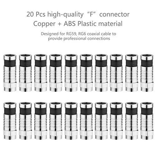 photo Wallpaper of Preciva-Kompressionszange Set, Preciva Crimpzange Abisolierwerkzeug RG59/RG6 Mit 20 Stück Kompressions-