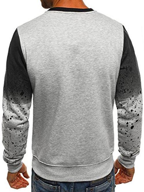 photo Wallpaper of OZONEE-OZONEE Herren Sweatshirt Langarmshirt Sweatjacke Motiv Pullover Aufdruck Pulli J.Style DD13-