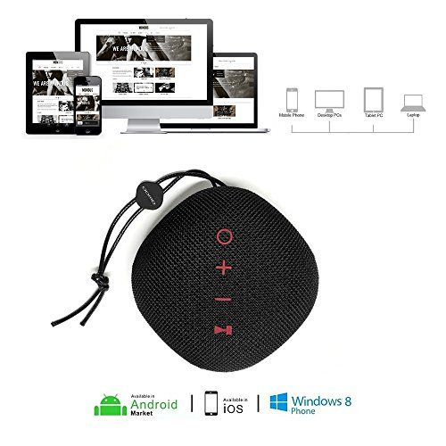 photo Wallpaper of QWOO-Bluetooth Lautsprecher, QWOO Mobiler Bluetooth 4.2 Sport Tragbar Lautsprecher 18 St Spielzeit-