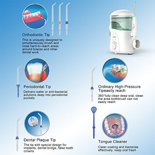 photo Wallpaper of LOFTWELL-Irrigador Dental Con UV Esterilizador, THZY Water Flosser Irrigador Bucal Impermeable Water Jet-Blanco