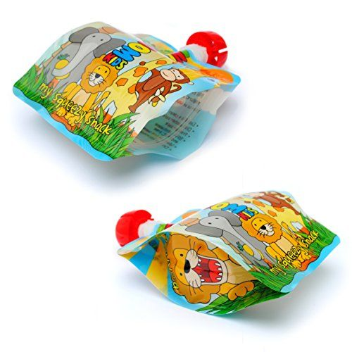 photo Wallpaper of Nom Nom Kids-Nom Nom Kids 140ml ANIMAL Bolsas De Comida Para Bebés Reutilizables-multicolor