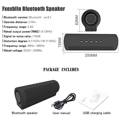 photo Wallpaper of Fxexblin-Bluetooth Lautsprecher HiFi, Fxexblin Tragbarer Bluetooth Lautsprecher, Mobiler Bluetooth 4.1 Lautsprecher; Mit Extra-