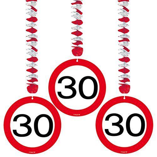 photo Wallpaper of Unbekannt-23 Tlg. Partyset 30. Geburtstag Dekoset Dekobox   Verkehrschild  -