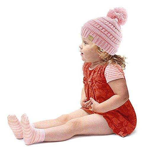 photo Wallpaper of mioim-MIOIM Baby Strickmützen Gestrickt Warme Winter Mütze Hut Beanie Kleinkind Kinder Cap Hüte-Blau