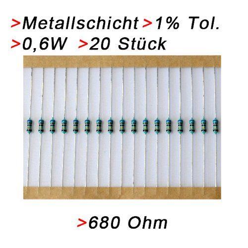 photo Wallpaper of -Widerstand 680 Ohm, 20 Stück, Metallschicht 0.6W 1% Metallfilm Widerstände-