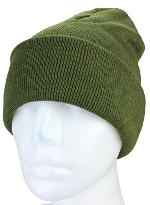 photo Wallpaper of Alex Flittner Designs-XXL Long Beanie / Basic Flap In Olive Damenmütze / Herrenmütze Winter Mütze-Olive