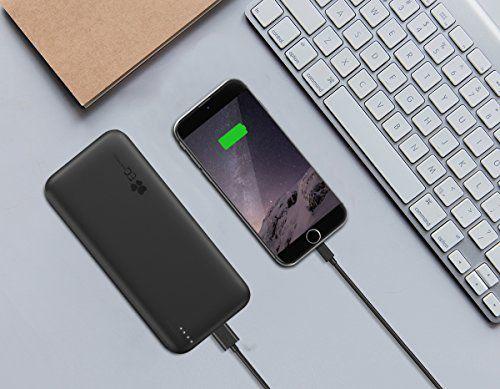 photo Wallpaper of EC Technology-[Quick Charge 3.0] EC Technology 21000mAh Power Bank Dual Eingang-Schwarz/Blau