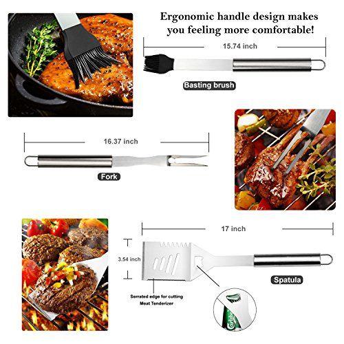 photo Wallpaper of RoseFlower-RoseFlower® 24 Teilig Hochwertige Edelstahl Grillbesteck Barbeque Mit Aluminium Koffer-Weiß