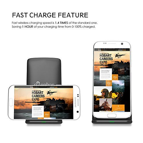 photo Wallpaper of ELEPHAS-Fast Wireless Charger, ELEPHAS Wireless Schnellladegerät Drahtloses Induktive Schnellladestation Qi Kabellose-M620-Schwarz