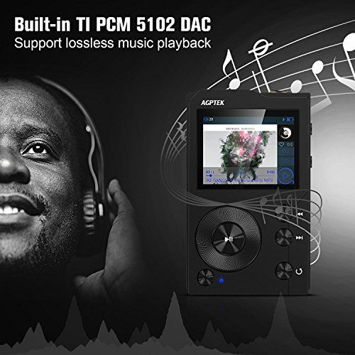 photo Wallpaper of AGPTEK-HIFI Bluetooth MP3 Player, Tragbare Musik Player, Diktiergeräte, Lossless Sound MP3 Player Mit-schwarz