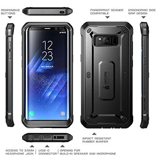 photo Wallpaper of SUPCASE-Samsung Galaxy S8 Hülle SUPCASE Unicorn Beetle Pro Handyhülle 360 Grad Case Bumper-Schwarz